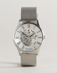 Sekonda Silver Mesh Exposed Mechanics Watch Exclusive To Asos Silver