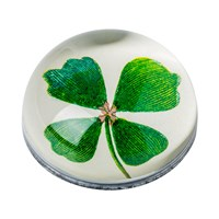 Decoupage Four Leaf Clover Paperweight