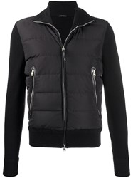 Tom Ford Padded Zip Up Jacket Black