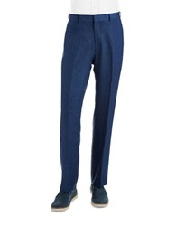 Palm Beach Classic Fit Linen Dress Pants Navy