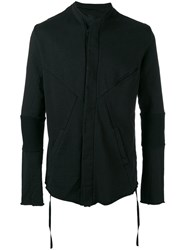 Thom Krom Seam Panel Cardigan Black