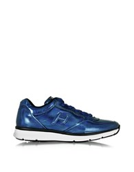 Hogan Traditional 20.15 Iridescent Blue Leather Sneaker