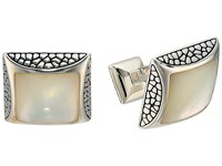 Stephen Webster Rayman Square Cufflinks Silver Mother Of Pearl Cuff Links