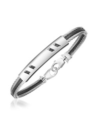Forzieri Difulco Line Stainless Steel Bracelet Silver