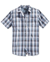 Fox Men's Plaid Woven Short Sleeve Shirt White