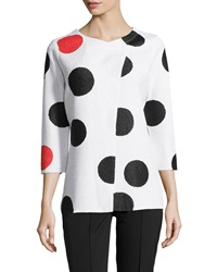 Berek Mod Dots 3 4 Sleeve Jacket White Black Red