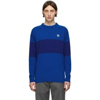 Loewe Blue Striped Anagram Sweater