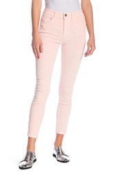 Current Elliott High Waist Corduroy Skinny Pants Chrystal Pink