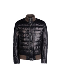 Harmont And Blaine Leather Outerwear Dark Blue