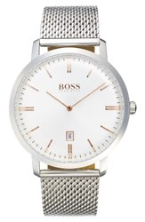 Boss Tradition Mesh Strap Watch 40Mm