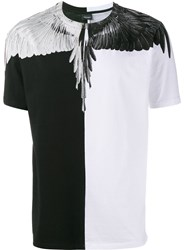 Marcelo Burlon County Of Milan Feather Print T Shirt Black