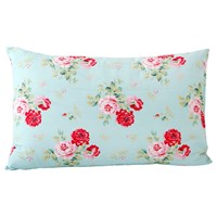 Cath Kidston Antique Rose Bouquet Pillowcase Duck Egg