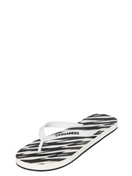 Dsquared Printed Rubber Flip Flops