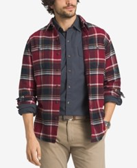 G.H. Bass And Co. Men's Plaid Flannel Overshirt Rhubarb