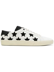 Saint Laurent Low Top Star Sneakers Men Leather Rubber 44 White