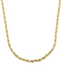 Macy's 2Mm Rope Chain 22' Necklace In 14K Gold