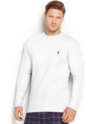 Polo Ralph Lauren Men's Thermal Crew Neck Shirt White