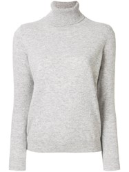 N.Peal Polo Neck Sweater Cashmere L Grey