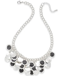 Style And Co. Glitter Shaky Paillette Necklace Silver