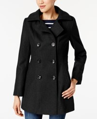 Nautica Hooded Double Breasted Peacoat Black