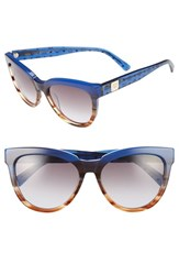 Mcm Women's 56Mm Retro Sunglasses Striped Blue Visetos