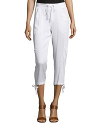 Xcvi Opaline Cropped Drawstring Pants White