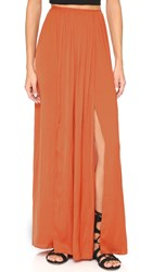 Bec And Bridge Shifting Sands Skirt Rust