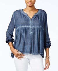 Tommy Hilfiger Gathered Waist Swing Top Only At Macy's Midnight