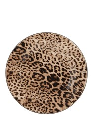 Roberto Cavalli Jaguar Bone China Charger Multicolor