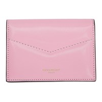 Givenchy Pink And Red Edge Business Card Holder