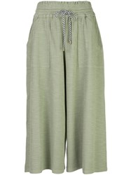 Apiece Apart Galicia Cropped Trousers Green