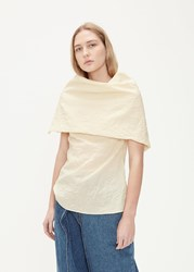 Aalto 'S Exaggerated Cowl Neck Top In Light Beige Size 36 Cotton Polyamide