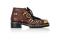 Miu Miu Women's Studded Combat Boots Brown