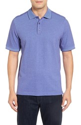 Nordstrom Men's Men's Shop 'Classic' Regular Fit Short Sleeve Oxford Pique Polo Purple Wisteria Oxford