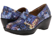 Nurse Mates Bryar Blue Splash Women's Clog Shoes