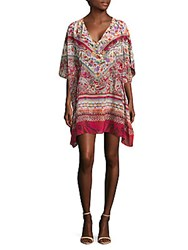 Gottex Printed Silk Caftan Dress Multicolor