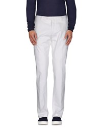 Luigi Bianchi Mantova Trousers Casual Trousers Men White