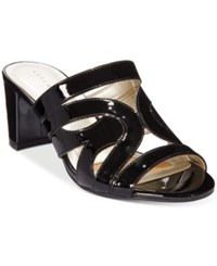 Karen Scott Daere Block Heel Sandals Only At Macy's Women's Shoes Black