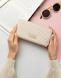 Lipsy Quilted Purse Beige