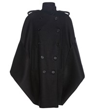 Valentino Virgin Wool Cape Black