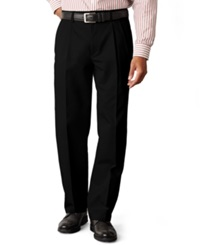 Dockers D3 Classic Fit Easy Refined Khaki Pleated Pants Black