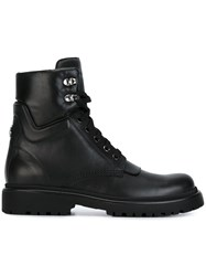 Moncler Lace Up Ankle Boots Black