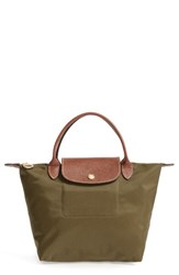 Longchamp 'Mini Le Pliage' Handbag Brown New Khaki