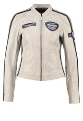 Freaky Nation Fast'n Furious Leather Jacket Chalc Atlantic Blue
