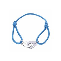 Opes Robur Blue Partners In Crime Sterling Silver Friendship Bracelet
