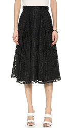 Milly Aztec Midi Skirt Black