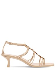 Cult Gaia 50Mm Ziba Leather Sandals Nude
