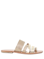 Tatoosh June Embossed Metallic Leather Sandals Gold