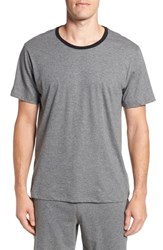 Daniel Buchler Pima Cotton Crewneck T Shirt Charcoal Heather