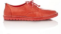 Marsell Women's Distressed Leather Derbys Red